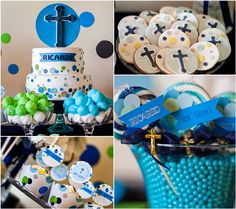 Boys First Communion Party Ideas - Pretty My Party Boys First Communion, First Communion Cakes, I Party, Party Favors, Party Ideas, Party Stuff, Shower Favors, Shower Invitations, Wedding Favors