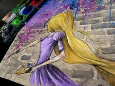 RAPUNZEL Time Lapse Watercolor Painting - Tangled