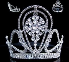 Beauty Pageant Rhinestone Queen Princess Crown Tiara