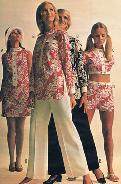 Penneys catalog 60s. Colleen Corby, Kathy Jackson, Linda Gauche and Cay Sanderson.