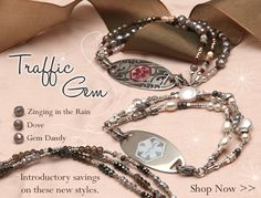 From laurenshope.com - Medical Alert jewelry doesn't have to be ugly!