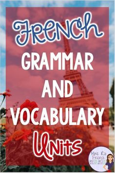 A French vocabulary unit should incorporate grammar with engaging speaking and writing activities for effective and meaningful practice for Core French/FSL. Grammar Practice, Grammar And Vocabulary, Vocabulary Worksheets, French Lessons, Spanish Lessons, Learning Spanish, Learning Italian, How To Speak French, Learn French
