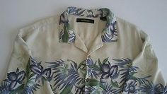 Bachrach Luxury Silk Hawaiian Camp Shirt Mens Sz XL