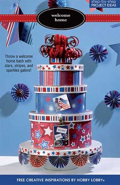 Throw a welcome home bash with stars, stripes, and sparkles galore!