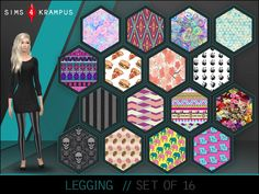The Sims Resource: Set of 16 Leggings • Sims 4 Downloads