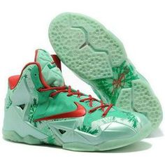 "the latest b061b 6d8cc Find Nike LeBron 11 ""Christmas"" Green Glow Light Crimson-Arctic Green Top  Deals online or in Yeezyboost.me. Shop Top Brands and the latest styles Nike  ..."