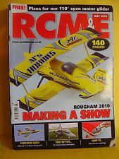 """RCM&E MAY 2010 RED NED 110"""" SPAN MOTOR GLIDER PLAN MULTIPLEX XENO"""