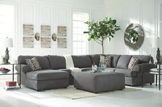 99 Comfortable Ashley Sectional Sofa Ideas for Living Room - Ashley Sectional, Grey Sectional, 3 Piece Sectional, Couches, Charcoal Sectional, City Furniture, Furniture Design, Wolf Furniture, Apartment Furniture