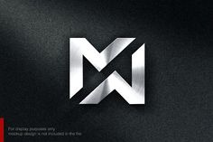 Letter M N Logo Templates **Awesome Logo Design Template** you can use this logo for any business.This design has **EXTENDED by nospacestore N Logo Design, Graphisches Design, Logo Design Template, Lettering Design, Logo Templates, Branding Design, Design Ideas, Initial Logo, Letter M Logo