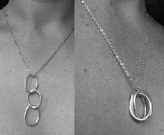 Necklace Three Rings by Epheriell, $46.00