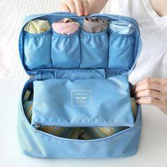 New Waterproof Travel Storage Bag Underwear Wash Laundry Bra Holder Sorting Kit Organizer Makeup Bags Cosmetic Portable Cases