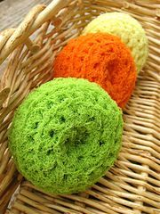 FREE Download Pattern - Ravelry: Nylon Net Scrubbies pattern by Melanie Larsen...