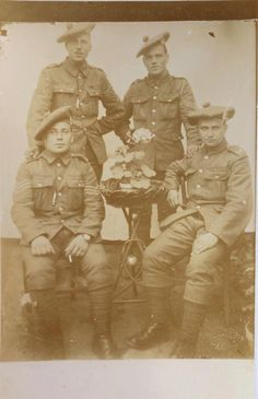 Royal Scots Regiment. Photo taken while on service in France.