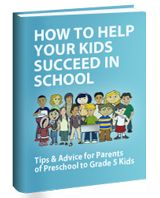 Free Ebook:  How to help your kids succeed in school. Printable math worksheets!