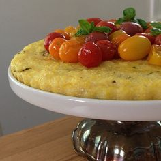 Polenta tart with roasted tomatoes by travelinlizard