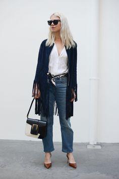 #zalonfaehig sandro suede fringe jacket summer 2015