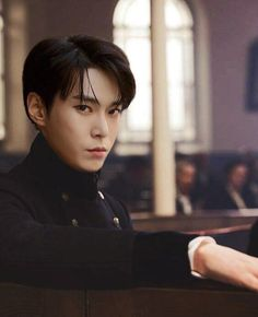 Doyoung from NCT 127 - he looks like he walked straight out of some Jane Austen novel or something Nct 127, Taeyong, K Pop, Mafia Crime, Nct Dream Members, Nct Doyoung, Kim Dong, Jaehyun Nct, Jung Woo
