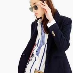 Petite Campbell blazer in wool flannel : outerwear & blazers | J.Crew