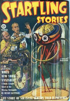 Startling Stories (March 1940), cover by Howard V. Brown