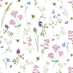 Find Watercolor Pattern Wild Flowers stock images in HD and millions of other royalty-free stock photos, illustrations and vectors in the Shutterstock collection. Graffiti Wallpaper, Map Wallpaper, Modern Wallpaper, Flower Wallpaper, Nature Wallpaper, Photo Wallpaper, Pattern Wallpaper, Watercolor Pattern, Watercolor Flowers