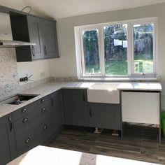 Bianco Foresta - Felixstowe, Suffolk - Rock and Co Granite Ltd White Quartz, Granite, Kitchen Cabinets, Home Decor, Decoration Home, Room Decor, Kitchen Base Cabinets, Dressers, Kitchen Cupboards