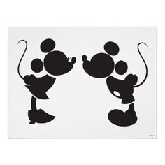 Disney silhouettes Classic Minnie and Mickey