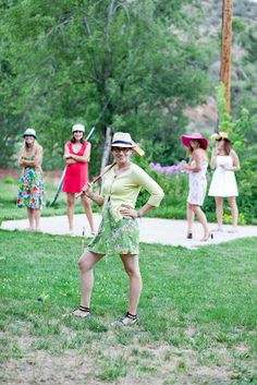 Croquet Bachelorette Party...might be also great for a Alice in wonderland inspired party.