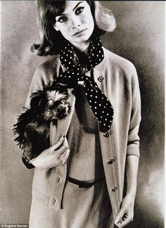 Jean Shrimpton and Bertie by Eugene Vernier, 1963