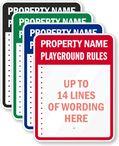 Custom Playground Rules Sign