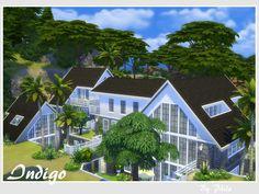Indigo villa by philo at TSR via Sims 4 Updates