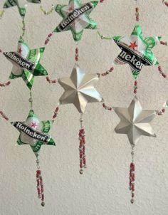 Soda Can Stars Curtain/Wall Drapery Tutorial
