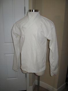 Cosplay Star Wars Jedi white under tunic shirt costume prop in 5 sizes