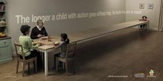 Act Fast - Public Awareness Ads That Make You Think It is critical that parents seek early intervention to ensure the highest functionality for their autism spectrum child. Autistic Children, Helping Children, Children With Autism, Autistic People, Young Children, Street Marketing, Luxury Marketing, Marketing Ideas, Autism Facts