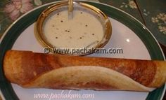 Crispy dosa made of rice and lentils