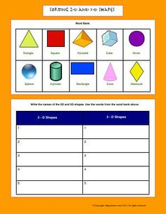 Valentines Day Worksheets D Shape Worksheets   Properties Of D Shapes Cube And Cuboid  Long O Worksheets For First Grade with Writing Worksheet Maker Word Worksheet  Sorting D And D Shapes  Write The Names Of Handwriting Worksheets With Arrows Excel