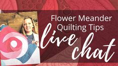 Tips for Quilting the Flower Meander | Live Chat with Angela Walters - YouTube Quilting Rulers, Longarm Quilting, Free Motion Quilting, Quilting Tips, Machine Quilting Tutorial, Quilting Tutorials, Quilting Designs, Rag Quilt, Quilts