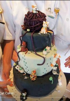 A cat lady cake like this would be pretty wonderful for my birthday :3