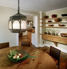 Popular Natural Wooden Shelves Designs Dining Room