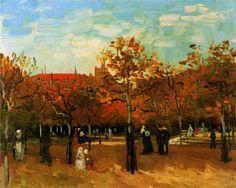 .:. Vincent van Gogh - The Bois de Boulogne with People Walking