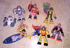 Lot of 6 Rescue Heroes Fisher Price Action Figures   | eBay