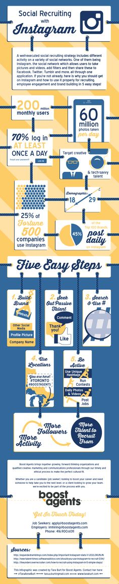 What Are 5 Ways You Can You Use Instagram For Social Recruiting? #Infographic