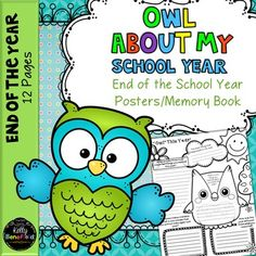 This cute memory book/owl posters set is a perfect end of the year activities for your classroom. Students will enjoy completing these adorable posters to reflect on and remember their past year. These posters are great for display in the classroom or hallway or for combining together into a special memory book for each child for a great end of the year activity.