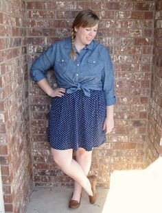 DIY FATSHION: DOUBLE VISION: POLKA DOT SKIRT