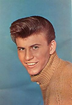 sweater + hair style  Bobby Rydell 8x10 Color Photo 1950's Teen Idol | eBay