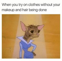 When 'ya try a dress without make-up