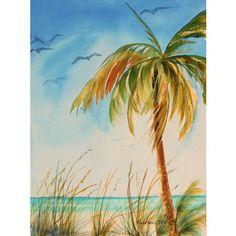 Wall Art tropical island palm tree art seascape with by DreamON