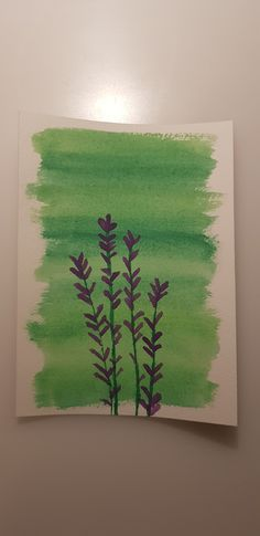 Violet lavendel and green background made with watercolors. Green Backgrounds, Watercolors, Drawings, Painting, Art, Lavender, Projects, Creative, Watercolor Paintings