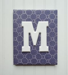 Wall Letters Nursery Decor Upholstered Letters by fabbdesigns, $21.00
