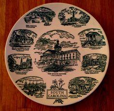 Vintage South Carolina Souvenir Plate by TheBrassUnicorn on Etsy, $14.00