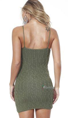 Crochet Crop Top, Diy Crochet, Crochet Bikini, Crochet Turban, Crochet Vest Pattern, Crochet Fashion, Crochet Clothes, Knitwear, Ideias Fashion